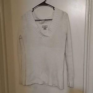 Arizona Jean company large white knit like sweater